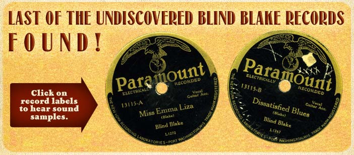 Last Blind Blake Record Found