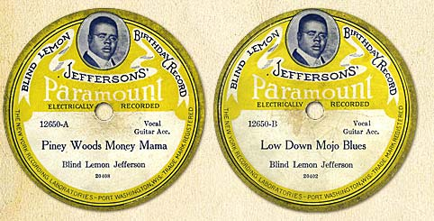 Blind Lemon Jefferson Portrait Disks