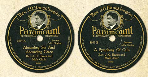 Reverend J.O. Hanes Portrait Labels